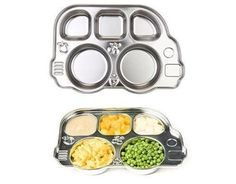 green mealtime, green toddler, stainless steel tray, stainless steel food tray, mealtime accessories, bus platter, fun dishes, green kid, ec...