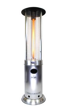 Lava Heat Italia Opus Liquid Propane Gas Patio Heater with Remote Control, Silver Natural Gas Patio Heater, Propane Patio Heater, Outdoor Heaters, Tower Heater, Infrared Heater, Backyard Playground, Patio Umbrellas, Lava, Stainless Steel