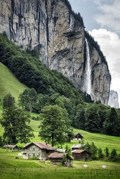 Lauterbrunnen, Switzerland  I would so live here