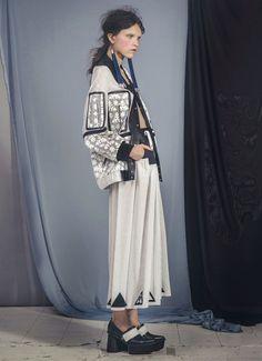 Jamie Wei Huang Tuva Navy Black Chunky Leather High Heel