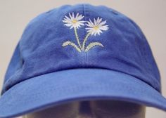 WHITE ASTER September Flower of Month Hat by priceapparel on Etsy