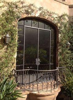 Juliet balcony w/ steel doors