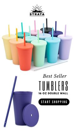Tumblers with Lids pack) Colored Acrylic Reusable Cups with Lids and Straws Diy Tumblers, Glitter Tumblers, Tumblers With Lids, Custom Tumblers, Water Bottle Gift, Water Bottles, Bridesmaid Proposal, Bridesmaid Gifts, Gifts For Teens