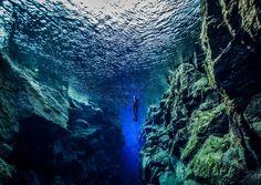 Islândia tem mergulho entre placas tectônicas