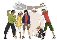 Voltron x Big Hero 6, Shiro, Keith, Lance, Hunk, Pidge, Coran, Allura <<< AHHHHHHH I LOVE IT