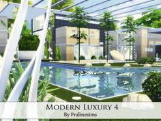 Modern Luxury 4 house by Pralinesims at TSR via Sims 4 Updates