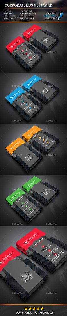 Modern Corporate Business Card Template #design Download: http://graphicriver.net/item/modern-corporate-business-card/12505134?ref=ksioks