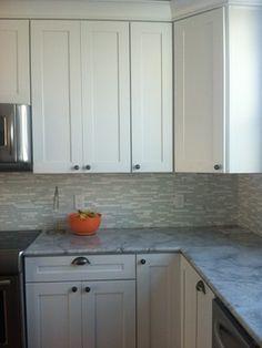 Kraftmaid Durham Cabinets, Maple, Dove White