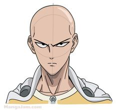 How to Draw Saitama from One Punch Man step by step