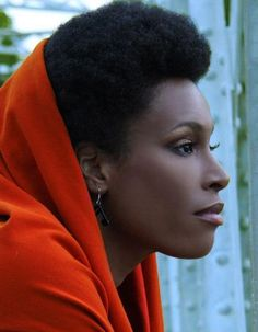 With scarf.   Black Women Natural Hairstyles