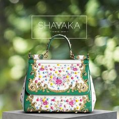 Dolce & Gabbana Patent Leather Sicily Bag with Flowers   Medium   26 x 21 x 12 cm   Available Now  For purchase inquiries, please contact sales@shayyaka.com or +961 71 594 777 ( SMS, WhatsApp, or iMessage) or Direct Message on Instagram (@Shayyaka). Guaranteed 100% Authentic   Worldwide Shipping   Bank Transfer or Credit Card