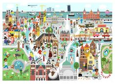 Times Square, Infographic, Museum, Clip Art, Amsterdam, Travel, Infographics, Viajes, Destinations