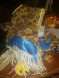 My Traditional Woman's Cloth cape in process