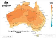 Average daily maximum temperature - February