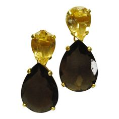 selissa is an online shop withvbeautiful handmade jewelry in silver and gold set with precious/ semi precious stones such as smokey topaz citrine earrings.