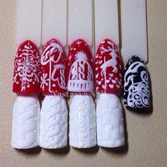 вязаный дизайн ногтей - Поиск в Google
