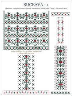 Semnele cusute - Un alfabet care vorbeste despre noi Cross Stitch Borders, Cross Stitch Designs, Cross Stitching, Cross Stitch Patterns, Folk Embroidery, Cross Stitch Embroidery, Embroidery Patterns, Knitting Patterns, Beading Patterns