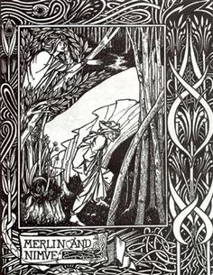 Merlin and Nimue - Aubrey Beardsley