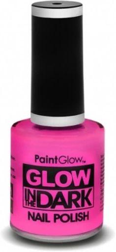 Glow in the dark nagellak neon roze