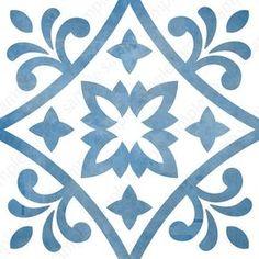 Digital tiles, Blue and white ornate wall decor, printable geometric wall art, tile pattern prints square each, DIY geo home decor Motif Baroque, Art Original, Geometric Wall Art, Tile Art, Wall Art Sets, Tile Patterns, Printable Wall Art, Printable Stencil Patterns, Blue And White