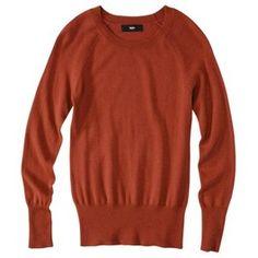 Mossimo® Women's Ultrasoft Crew Neck Sweater - Assorted Colors in Cinnamon Cake $18