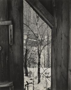 "philamuseum: How do you frame the world around you? Paul Strand's photographs incorporate abstract elements but are rooted in everyday life. Explore his modern take on rural towns and city life in our current exhibition ""Paul Strand: Master of Modern Photography.""""Toward the Sugar House, Vermont,"" 1944, by Paul Strand ©Paul Strand Archive/Aperture Foundation"