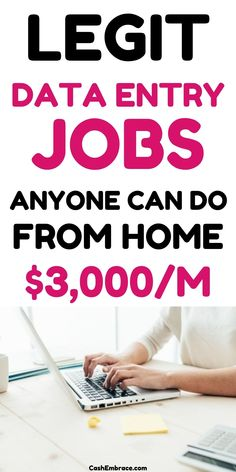 Data entry jobs from home for beginners: remote online jobs from home to earn money. Legit data entry jobs from home without investment. Make money online as a data entry clerk.#dataentryjobsfromhome#dataentryjobsforbeginners#onlinejobs#remotejobs#makemoneyonline#makeextramoneyideas Cash From Home, Online Jobs From Home, Work From Home Jobs, Make Money Blogging, Way To Make Money, Make Money Online, Earn Extra Cash, Extra Money, Data Entry Clerk