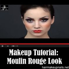A unique look that is known for its bold red lips and striking eyes.