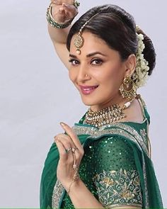 Bollywood Photos, Bollywood Fashion, Madhuri Dixit, Action Poses, Supreme, Crown, Queen, Instagram Posts, Beauty