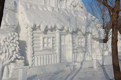 """Snow House"" Harbin Ice & Snow Festival in China."