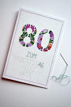 80. Birthday Card