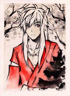 'Inuyasha Ink Drawing' by laovaan Inuyasha, Framed Prints, Canvas Prints, Art Prints, Villainous Cartoon, Figure Poses, Jackson Pollock, High Art, Anime Figures