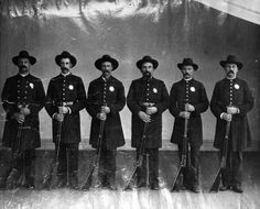 Los Angeles Police Department rifle team, 1890
