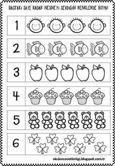 FREE Preschool or Kindergarten Math Worksheets, Apple Themed Classroom Preschool Number Worksheets, Preschool Writing, Numbers Preschool, Math Literacy, Preschool Printables, Kindergarten Worksheets, Worksheets For Kids, Preschool Activities, Free Preschool