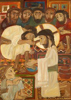 Новости Images Of Christ, Religious Images, Religious Icons, Religious Art, Illustrations, Illustration Art, Spiritual Paintings, Jesus Painting, Christian Religions