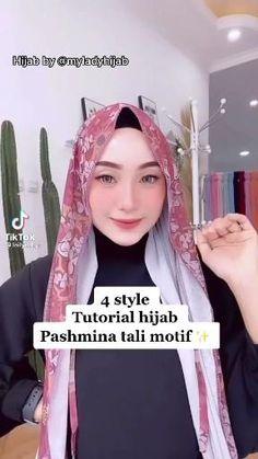 Simple Hijab Tutorial, Hijab Style Tutorial, Modern Hijab Fashion, Hijab Fashion Inspiration, Mode Abaya, Mode Hijab, Pashmina Hijab Tutorial, How To Wear Hijab, Mode Turban