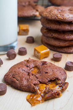 Fudgy Rolo Brownie Cookies