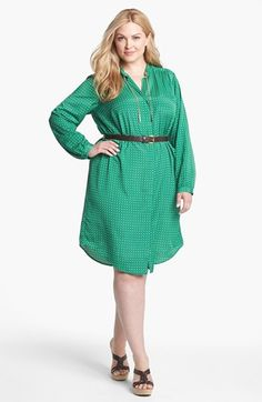 MICHAEL Michael Kors Print Shirtdress (Plus Size) available at #Nordstrom