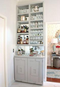Small home bar room divider