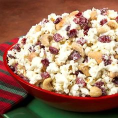 Snow-Capped Cranberry Cashew Popcorn; 'ReadySet Eat' website; need I say more?