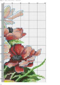 k 4 Cross Stitch Fruit, Cross Stitch Bird, Cross Stitch Patterns, Banner, Embroidery, Crafts, Letters With Flowers, Floral Letters, Stitch Patterns