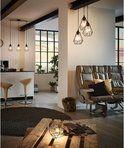 bol.com | EGLO Vintage Tarbes - Hanglamp - Draadlamp - 3 Lichts - 3xØ17cm. - Zwart