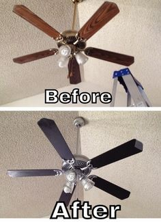 If you have a perfectly good, working brass or gold ceiling fan that doesn't fit your style, don't throw it away just yet. You can update your current ceiling fan to be more modern and aesthetically pleasing. Read on!
