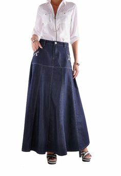 changing jeans to skirt