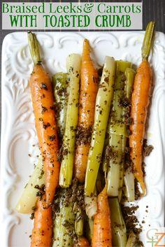 Braised Leeks & Carrots with Toasted Crumb