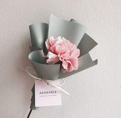 New flowers bouquet birthday gift ideas Ideas - Flowers - Single Flower Bouquet, Small Flower Bouquet, Flower Boxes, Bouquet Flowers, Tulip Bouquet, Diy Flower, Bouquet Wrap, Gift Bouquet, Hand Bouquet