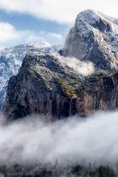 Fog and Bridalveil Falls, Yosemite National Park, California | by Troy Montemayor on 500px