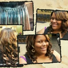 Full head fusion weave (strand by strand)