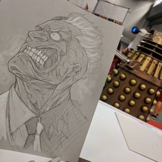 """2,750 Likes, 15 Comments - Vince Sunico (@vinsun316) on Instagram: """"Two-face sketch and a Dalek - at Montreal Comic Con #twoface #batmanvillian #dalek #drwho…"""""""
