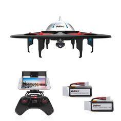 Amazon.com: DBPOWER UDI U845 WiFi FPV UFO RC Drone with HD Camera 2.4GHz 4CH 6 Axis Gyro RTF Quadcopter with Low Voltage Alarm…